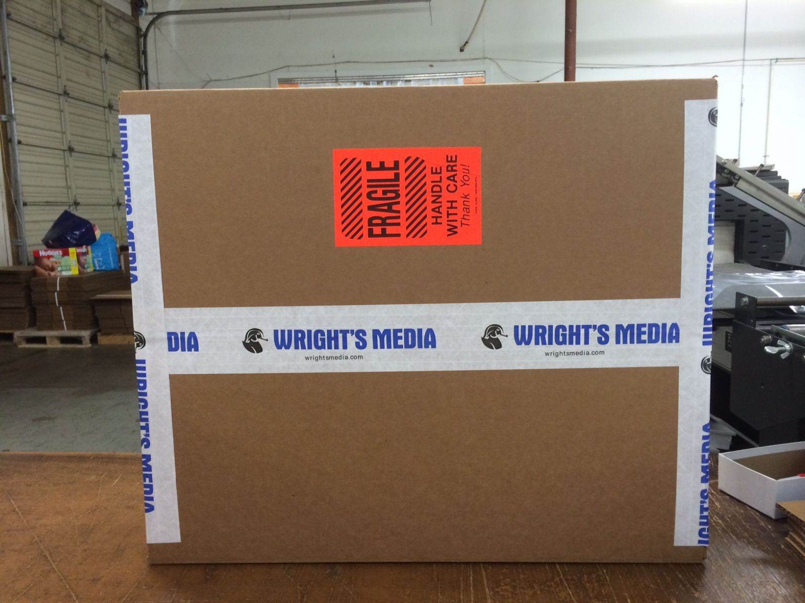 Printed tape with Wrights Media