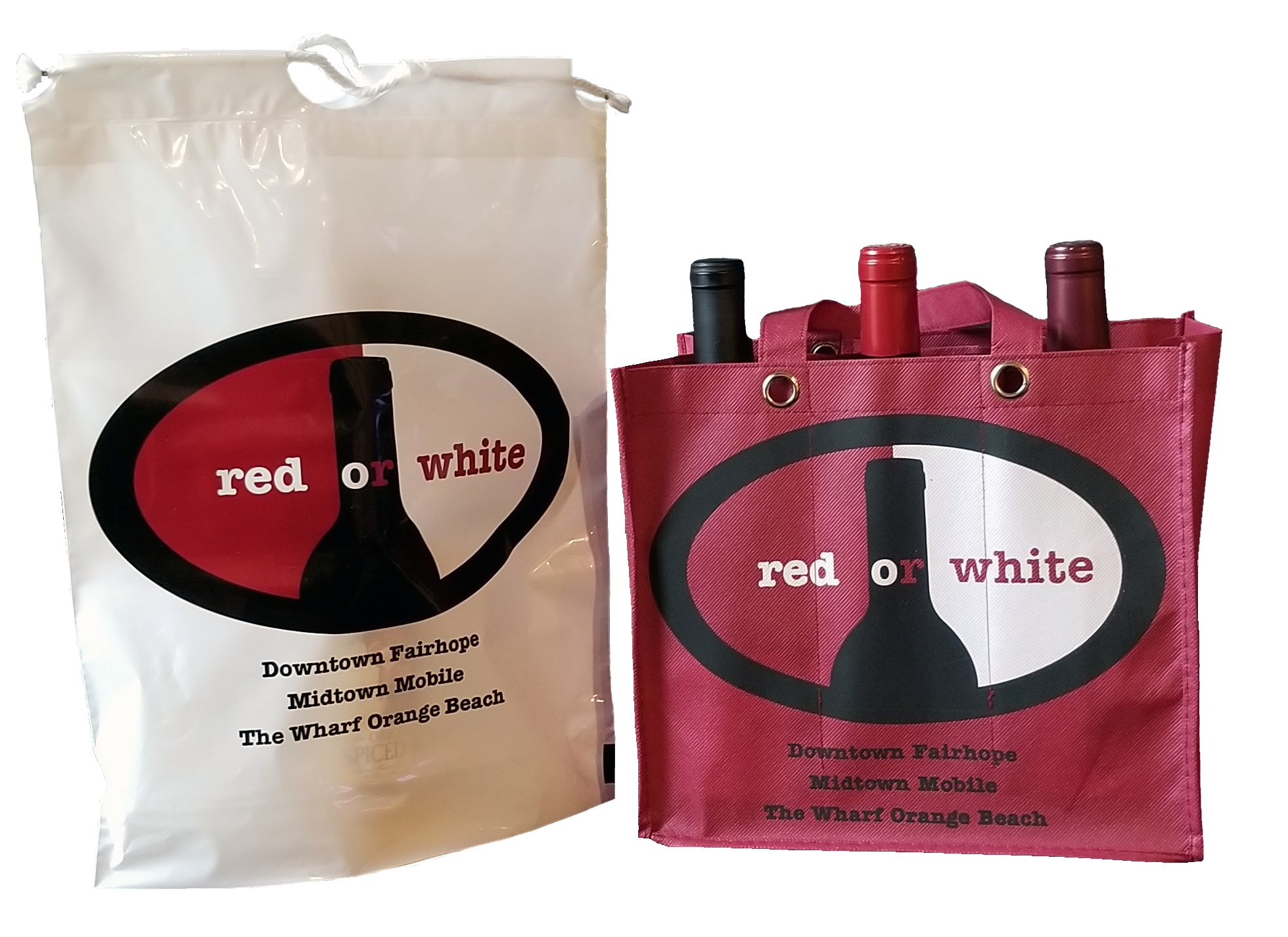 Carry 6 Bottles Of Wine And It Stands Out With Their Logo By Using A Red Bag They Were Able To Print 2 Colors But Have Three Represented