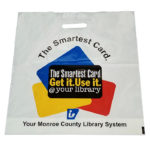 Monroe County Library, Eco Friendly Packaging Bag, Packaged Goods, Library Card Bag Packaging and Labeling