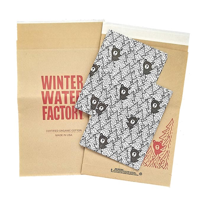 Winter Water Factory Mailer Tissue Paper Portfolio